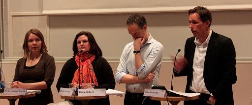 Marika Lindgren Åsbrink, Mikaela Valtersson, Björn Öckert och Håkan Wiclander
