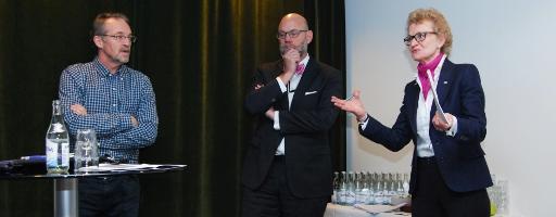 Hans Peter Larsson, Mikael Lundholm och Susanne Ås Sivborg