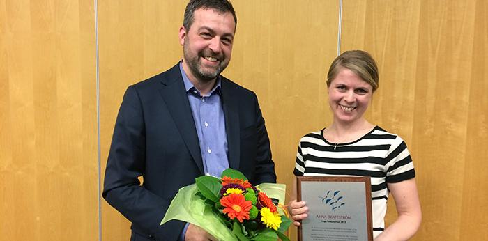 Anna Brattström unga forskarpriset 2015